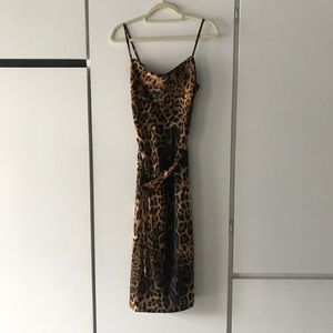 NastyGal Cheetah Print Slip Dress